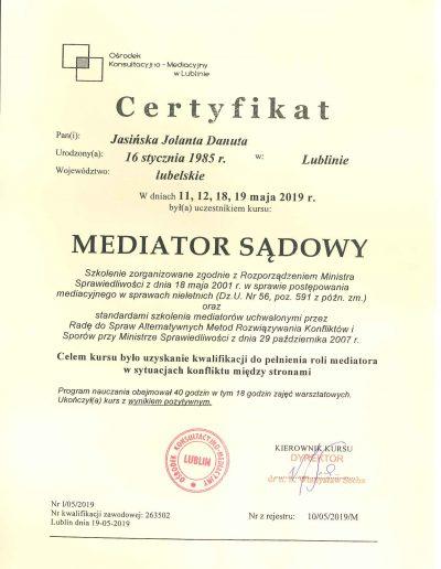 CERTYFIKAT-Mediator Sądowy 02.07.19r-1